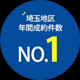 埼玉地区年間成約件数 No.1